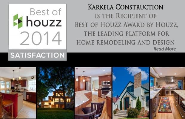 Karkela Awarded Best of Houzz 2014